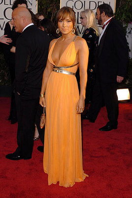 Jennifer Lopez in Orange Michael Kors in 2004