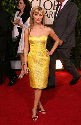 Reese Witherspoon in Canary Yellow Olivier Theyskens For Nina Ricci in 2007