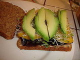 Avocado-Mango Sandwich