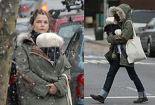 Keri and River Bundle Up to Brave the Snow