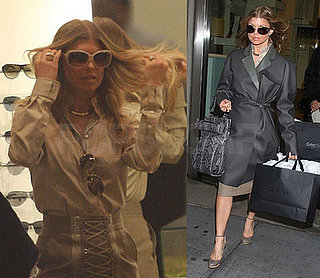 Fergie Shopping at Calvin Klein in NYC on February 4, 2008