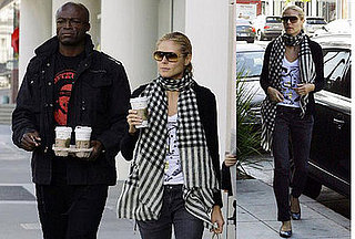 Heidi Klum and Seal at Starbucks in LA on February 25, 2008