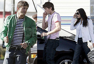 Ashton Kutcher and Demi Moore on the set of Spread in LA 2008-03-04 16:00:52