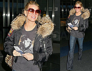 Jessica Simpson at JFK Airport