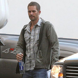 Paul Walker on the Set of the Fast and the Furious 4