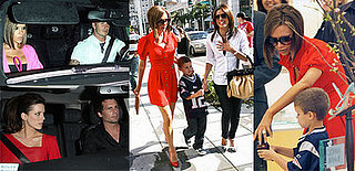 Beckhams, Eva Longoria and Kate Beckinsale in LA
