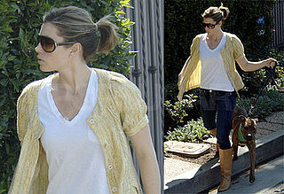 Jessica Biel Goes Back to Brown Hair
