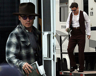 Johnny Depp on the Set Of Public Enemies 2008-03-25 23:51:00