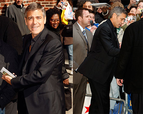 George Clooney Does the Usual on Letterman