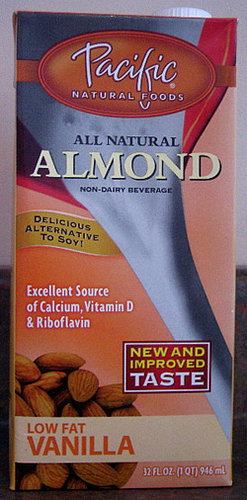 Almond Milk is Dairy, Cholesterol and Soy Free