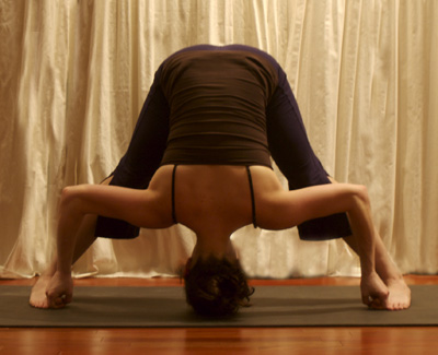 Yoga Pose of the Week: Wide-Legged Forward Bend D