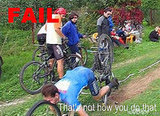 Bicyclist Gets Faced: Fail
