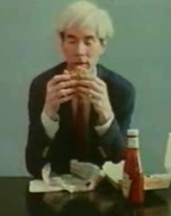 Andy Warhol Eats a Burger King Hamburger