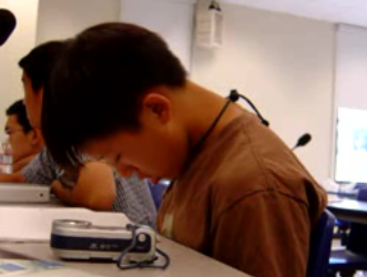 Dude Falls Asleep and Drools in Class
