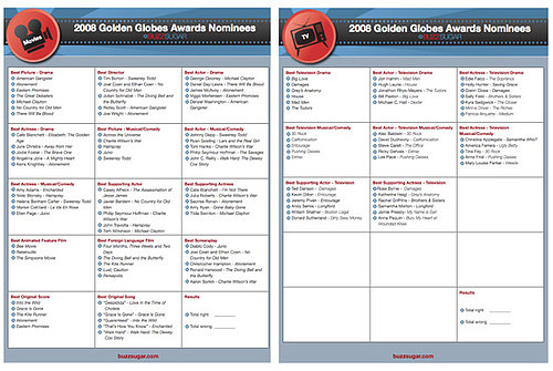 Print and Share our Golden Globes Ballots!