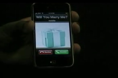 Man Proposes to Woman with iPhone