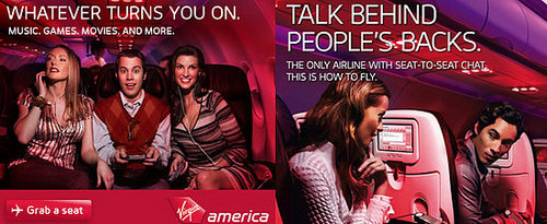 Geeky Virgin America Ads: Too Hot to Handle?