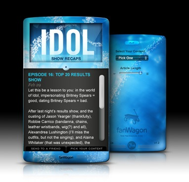 American Idol Dashboard Widget