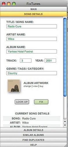 FixTunes Download Corrects MP3 Tags and Adds Missing Album Art