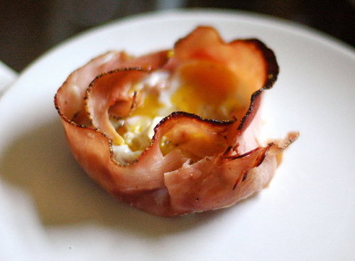 Kitchen Experiments: Baked Egg in a Ham Shell