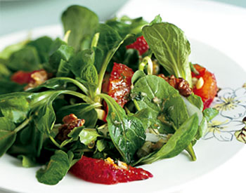 Celebrate the Spring weather with a light and airy salad of Spring Greens with Orange-fennel Vinaigrette.