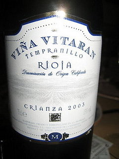 Happy Hour: Viña Vitaran Rioja Tempranillo