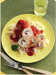 Fast & Easy Dinner: Turkey-Cheese Roll-ups With Red Pepper Sauce