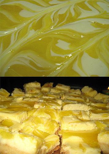 A Delicious Dessert: Lemon Ripple Cheesecake