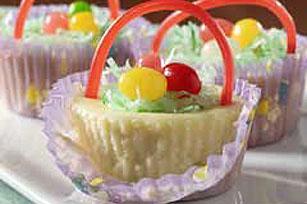 Easter: Mini Cheesecake Baskets