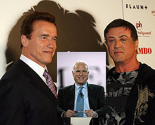 Headline:  Schwarzenegger Flexes Muscle for McCain
