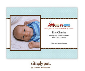 Shutterfly's Baby Cards