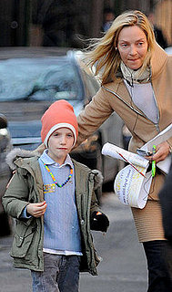 Uma Thurman and Son Levon Roan