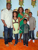 Holly Robinson Peete and her family enjoyed the Nickelodeon festivities.