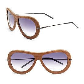 iWood ecodesign - Organic Sapele Pommele Sunglasses - Saks.com