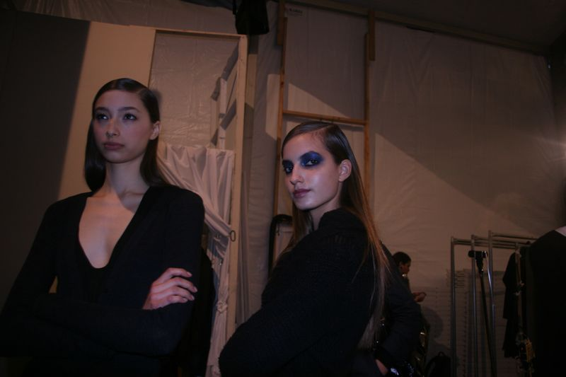 Backstage at Monique Lhuillier