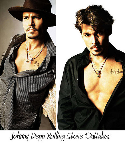 Outtakes from Johnny Depp's Rolling Stone photo shoot