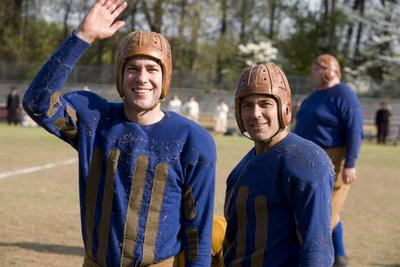 On the set of Leatherheads: John Krasinski