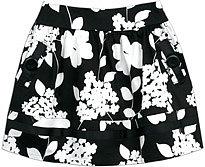 black white blossom skirt
