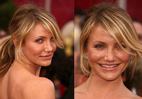 Cameron Diaz at the Oscars: hair and makeup