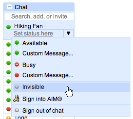 Go Invisible While on Gchat!