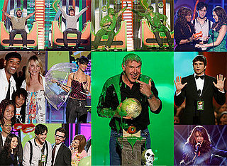 Harrison Ford Gets Slimed, Miley Cyrus And Drake Bell Win Big At The 2008 Nickelodeon Kids' Choice Awards.