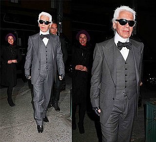Karl Lagerfeld Spotted in New York Sporting New Style