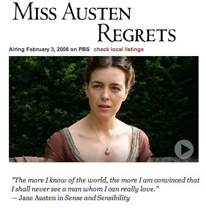Miss Austen Regrets - The Complete Jane Austen on PBS