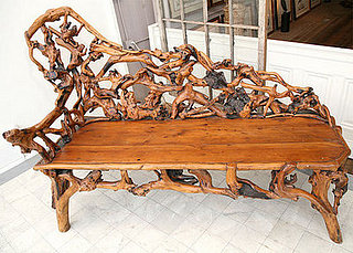 Love  It or Hate It?  Rhododendron Burl Root Bench