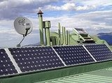 Solar panels help to offset energy use and to make the house self-sufficient.Source