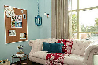 Cool Idea: A Curtain-Paneled Sofa