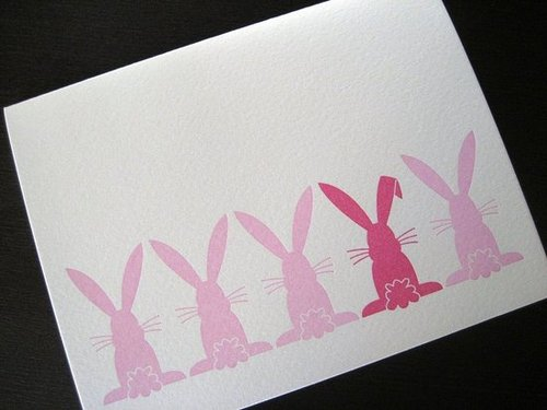 The Card Shop: Hippity Hop Letterpress Bunny Card