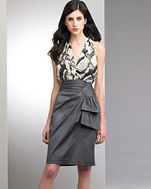 Nanette Lepore Plaid Halter Top & Studio Satin Skirt�-� Skirts�-� Bergdorf Goodman