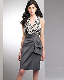 Nanette Lepore Plaid Halter Top & Studio Satin Skirt�-� Skirts�-� Bergdorf Goodman
