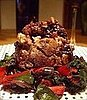 Roasted Stuffed Lamb with Swiss Chard